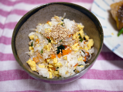しらすと卵の彩りご飯